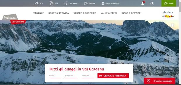 Il sito ufficiale della Val Gardena