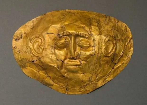 La maschera di Agamennone al Museo Archeologico di Atene
