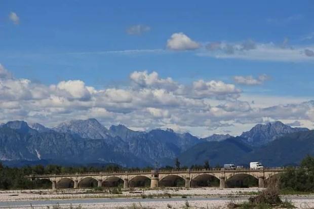 Itinerario in Friuli Venezia Giulia- Il ponte sul fiume Tagliamento