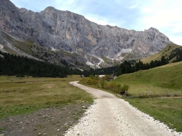 La parte quasi pianeggiante della Val Duron