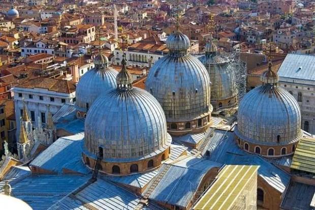 Vista sui tetti della Basilica di San Marco