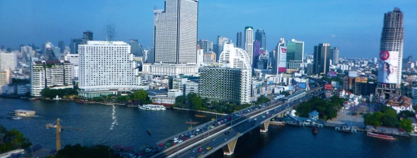 Vista sulla città di Bangkok