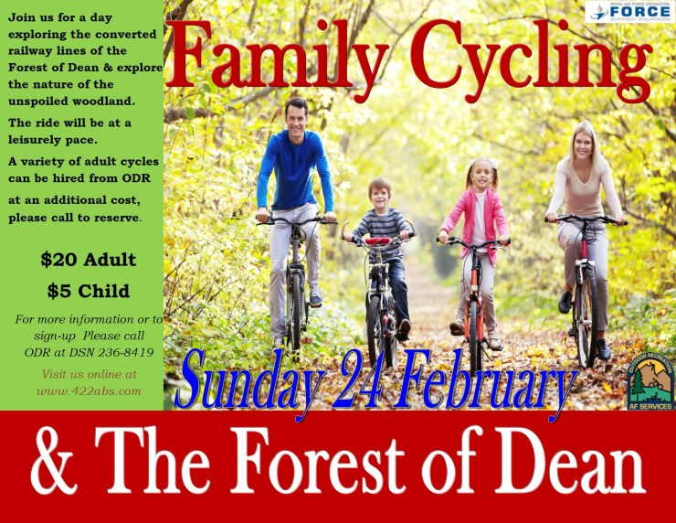 Family Cycling October Feb 2019