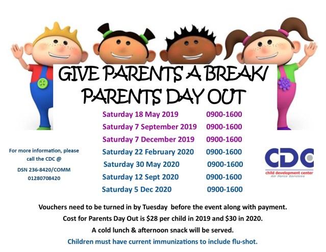 Give parents a break 2019-2020