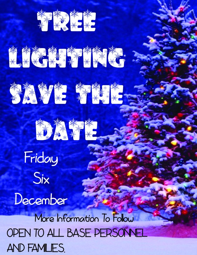Save the date Tree Lighting