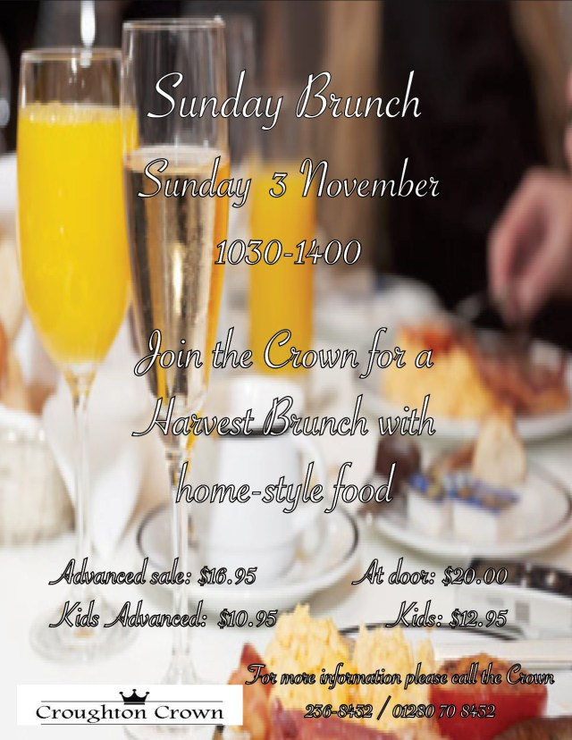 Sunday Brunch 3 Nov 2019