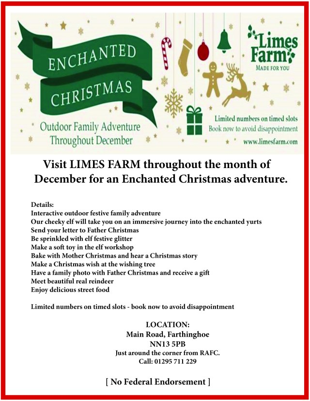 Limes Farm Christmas advert 2019