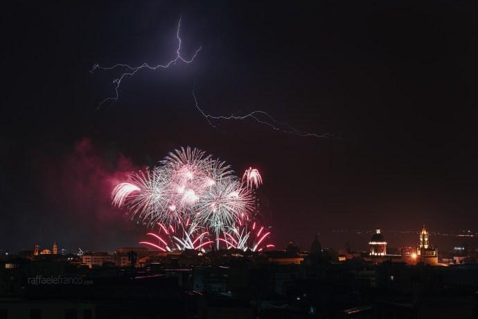 Temporale a Palermo durante il Festino di Santa Rosalia - 15/07/2019