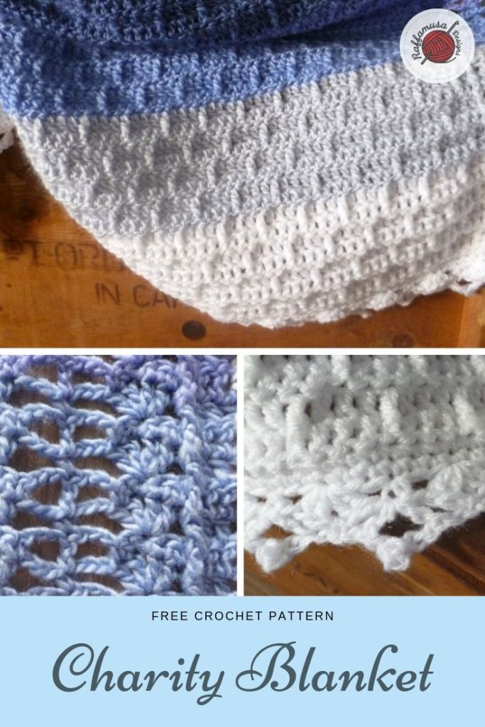 Pin the pattern of the Crochet Charity Blanket for later!