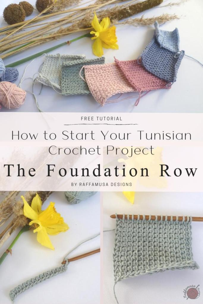 Pin the free tutorial on how to make a Tunisian Crochet Foundation Row