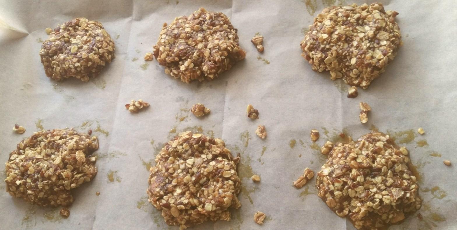 Kekse mit Haferflocken und Kurkuma