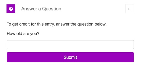 Answer a Question - RafflePress