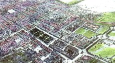 Vista en perspectiva de la Ciudad de México en el año de 1855