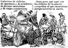 Calaveras ciclistas. José Guadalupe Posada