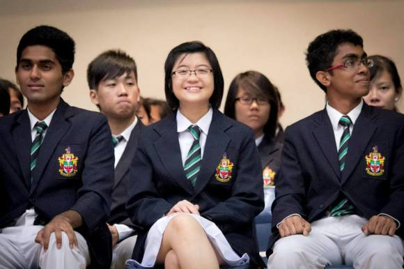 Ashlynna at the 33rd Students' Council Investiture, looking cheerful as always