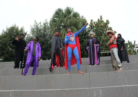 The Hero & Villains at Value-O-City Amazing Race