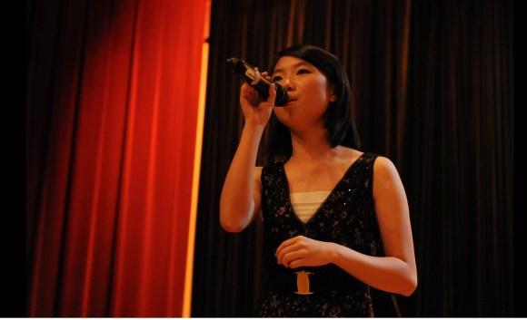"Vocalist Melody Kang with her impressive rendition of ""A Felicidade"""