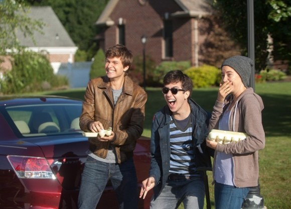 The trio of Hazel, Augustus and Isaac (Source)