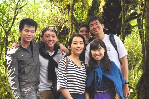 Wilnard (second from left) and his clinical group-mates vacationing in Malaysia