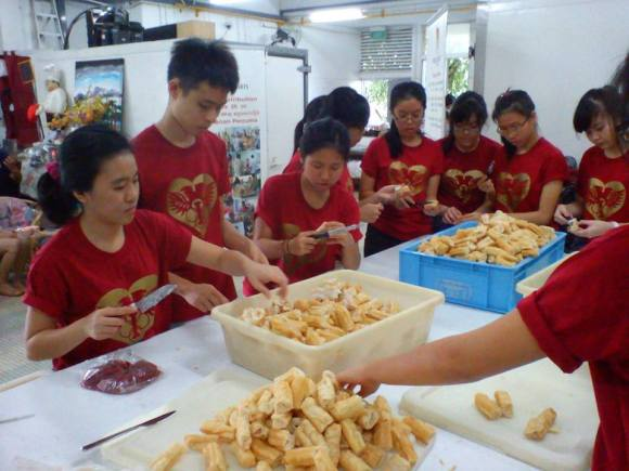 Club service at Willing Hearts' Soup Kitchen