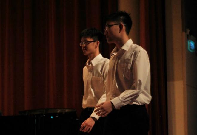 Isaac Lee and Tan Chin Soon performed Debussy's 'Nuages'