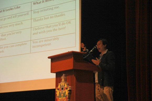 Dr Gwee compares common Singlish phrases, what they appear to mean, and what they actually mean.