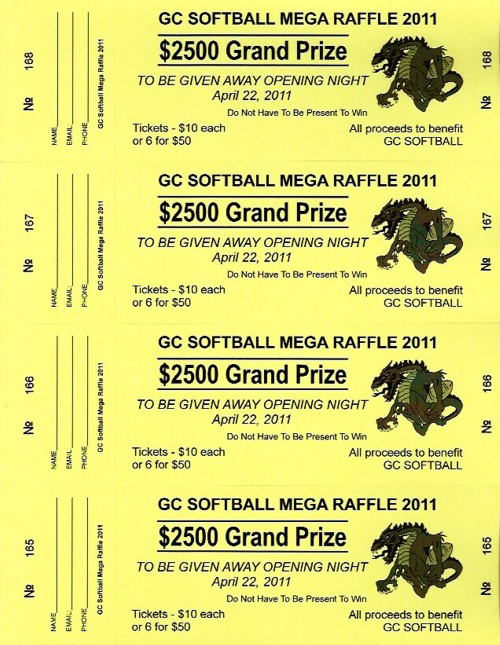 perforated raffle tickets