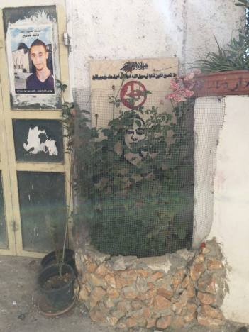 Memorial for young man killed in Dheisheh