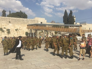 IDF at the wailing wall