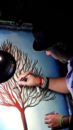 Glow In The Dark Live Painting At Vinyl 2016