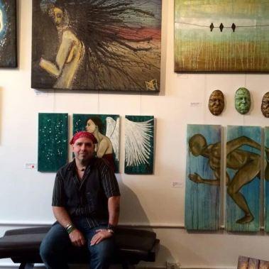 Rafi Perez At Solo Art Show