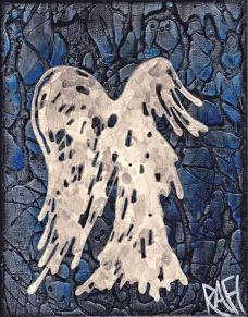 Blue Abstract Angel