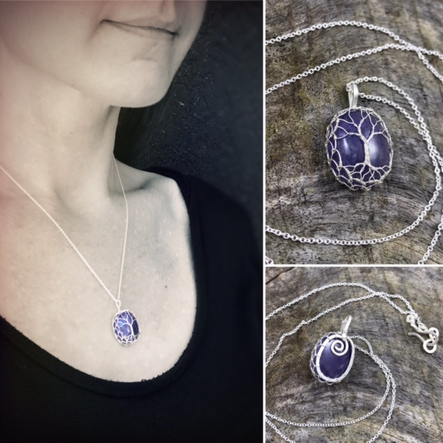 """Periwinkle Ridge"" Tree of Life Pendant Necklace by Klee Angelie"