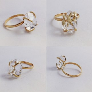 Solid Gold Engagement Ring By Klee Angelie