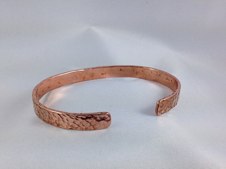 Hammered Rustic Wave Copper Cuff Bracelet