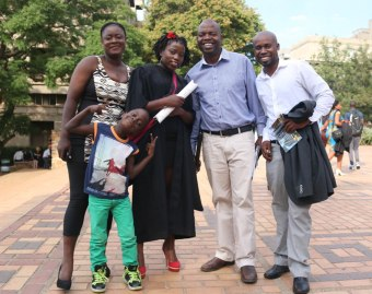 Wits students get there undergraduate degrees at the Wits graduating ceremony. Students recieved their undergraduate degrees for Bachelor of Sciences.
