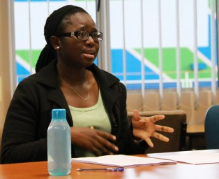 CRITICAL THINKERS TALK FEMINISM: Nomonde Nyembe is part of CTRG, which holds weekly meetings to discuss and critique thought provoking materials. Photo: Rafieka Williams.