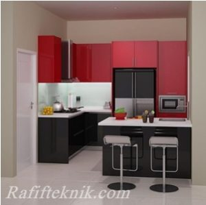 Gambar Kitchen set sederhana Aluminium