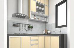 projek pembuatan dapur dan lemari bawah tangga ibu dyah cipayung