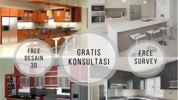 Jasa Pembuatan Kitchen Set Multiplek, Aluminium & PVC.
