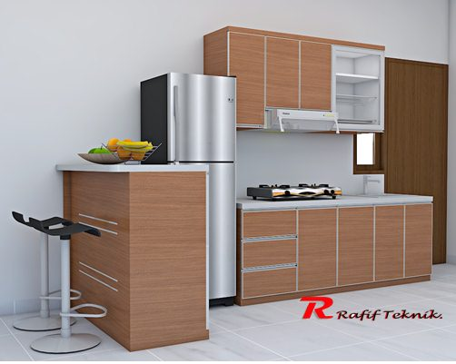 model terbaru kitchen set & mini bar