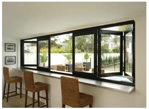 Jendela Aluminium Bi-Fold Window