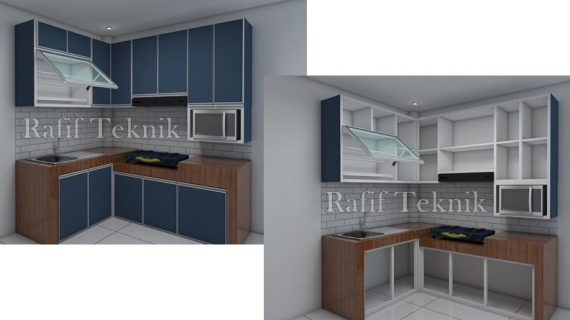 Model Kitchen Set Aluminium & Harga Terbaru