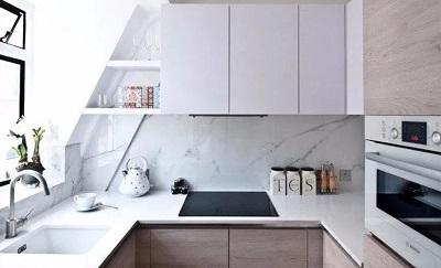 ruangan Dapur sederhanaa Letter U Minimalis Mewah