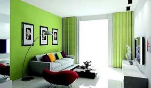 Desain Ruangan Minimalis Tema Hijau