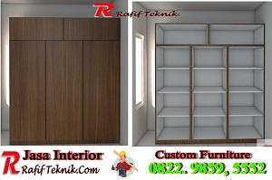 Lemari Aluminium Motif kayu