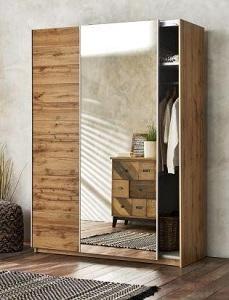 lemari pakaian sliding 2 pintu