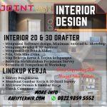 Lowongan Kerja Interior Design & 3D Drafter