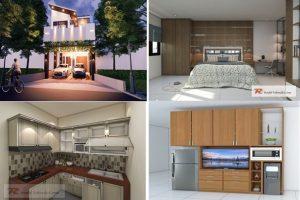 Desain Interior Rumah Sederhana 2 lantai