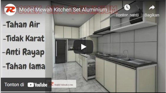 Model Kitchen Set Aluminium Putih Mewah & Elegan